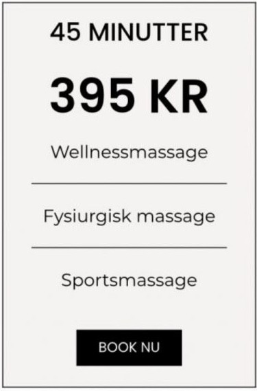 Massage prisskilt 45 min